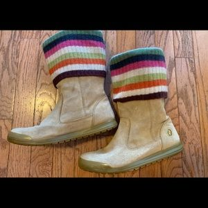 Coach Tatum Wool & Suede Boot